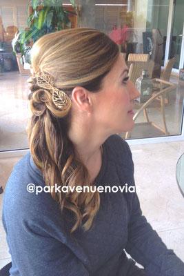 peinado cola de lado by park avenue novias