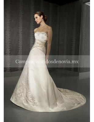Vestido de novia para enmarcar la cintura