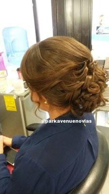 peinado con ondas para boda