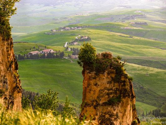 Volterra, Blick über den Abhang der Balze, 7. Mai 2018