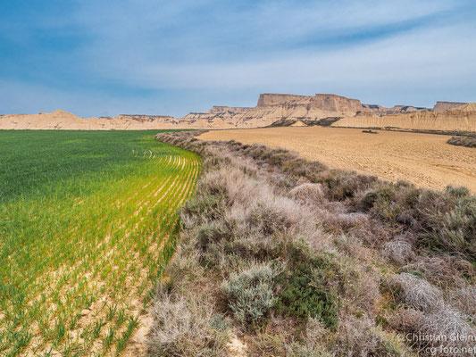 Halbwüste Bardenas Reales im Süden von Navarra