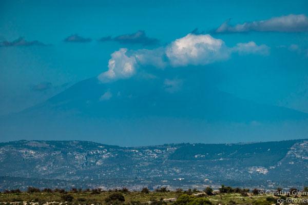 Der Ätna von der Cava Grande del Cassibile aus gesehen