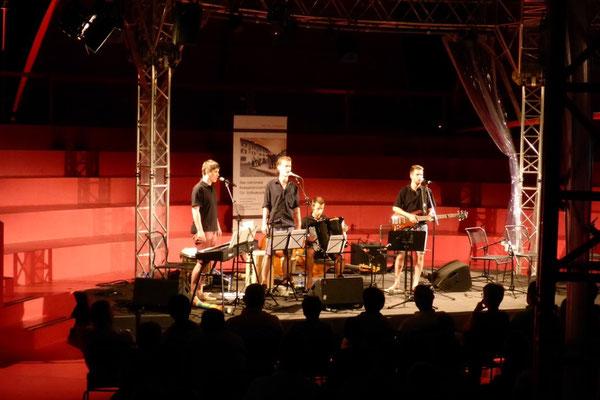 Zum ersten Mal singen wir dreistimmig auf der Seerose in Flüelen. 29. August 2015