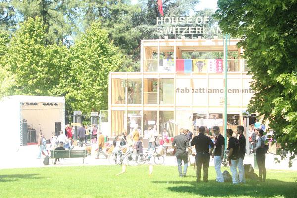 Der Schweizer Pavillon in Mailand. 03. Mai 2014