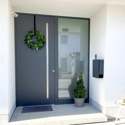 Aluminium Haustüre mit Griffmulde bei Bonn kaufen