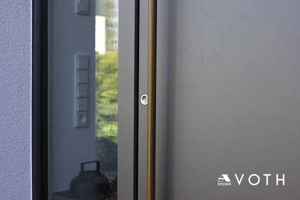 Aluminium Haustüre mit Holzgriff in Düren kaufen