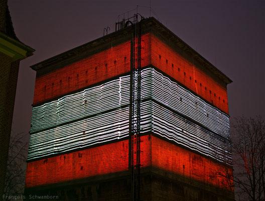 Projection Mapping, Lichtcampus, Hamburg 2015 Foto: François Schwamborn