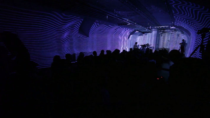 Raumstudien, Audioreaktive Rauminstallation, Saarbrücken 2014 Screenshot