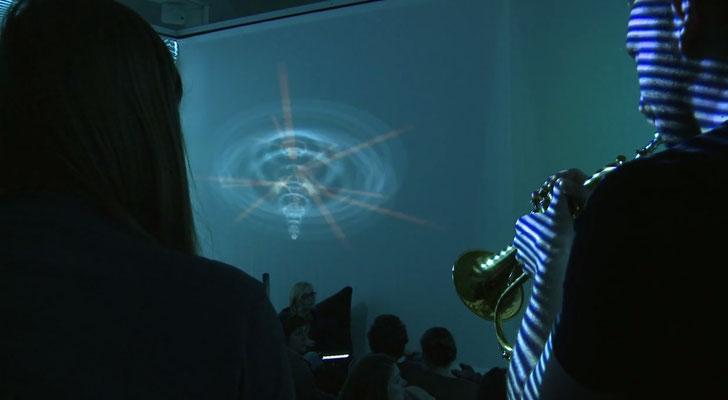 Audio Reactive Study, Rotationen 2014 - Foto François Schwamborn