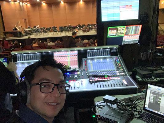 Grabando OSN en el Teatro Nacional de Costa Rica