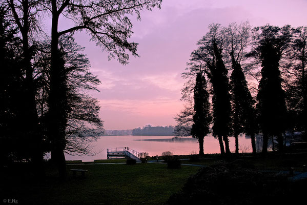 Sonnenuntergang am Werlsee