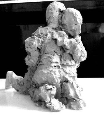 Tonmodell (Höhe ca.15 cm)