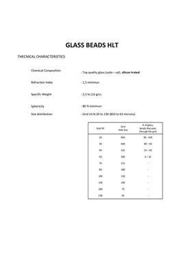glass beads HLT