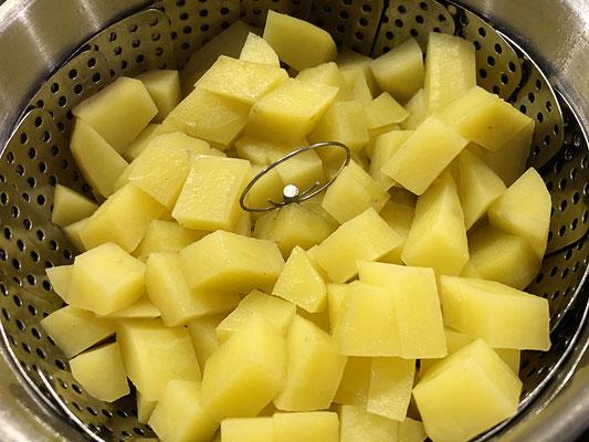 gewürfelte Kartoffeln