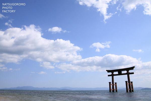 滋賀、白鬚神社 Shirahige Shrine in Shiga prefecture