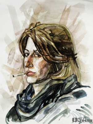 woman with a cigarette(Maria) 2010/NL