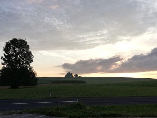 Sonnenaufgang in der Rösterei