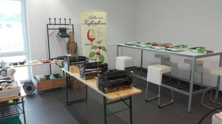 Die selbstgebauten Handröster für den Kaffee-Expertenkurs bei der Firma Rudolf Wagner KG