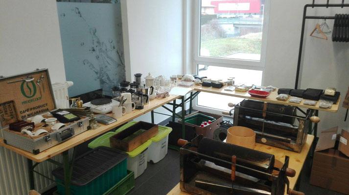 Arbeitsmaterialien für den Kaffee-Expertenkurs bei der Firma Rudolf Wagner KG