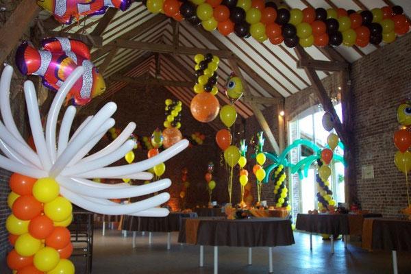Décoration de ballons thème tropic et mer