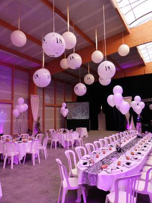 D coration de ballons pour des 18 ans d coration de ballons pour mariage anniversaires - Cadeau d anniversaire 18 ans ...