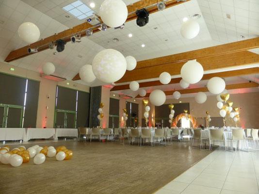 Décoration de ballons au Pavillon des Aulnes au Vaudreuil