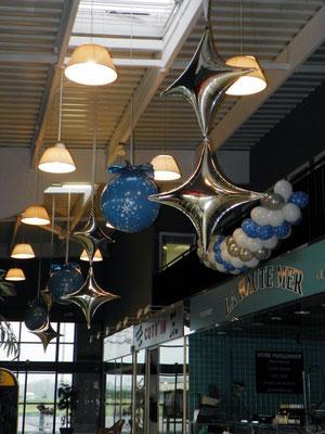 Dération de ballons galerie marchande