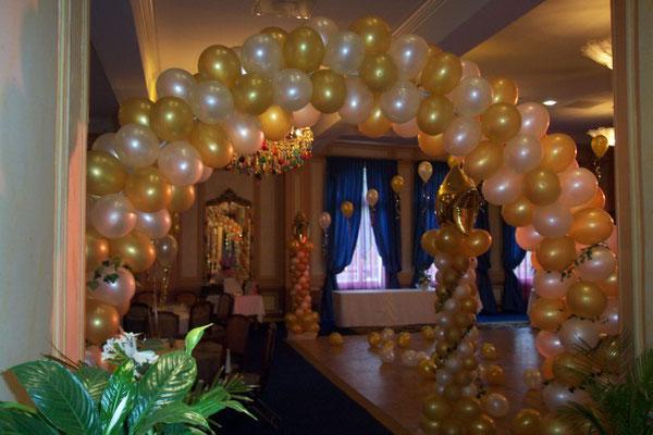 Déco de ballons salle des Ambassadeur casino de Forges