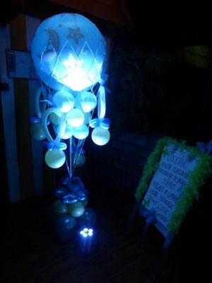 Colonnes mongolfière en ballons
