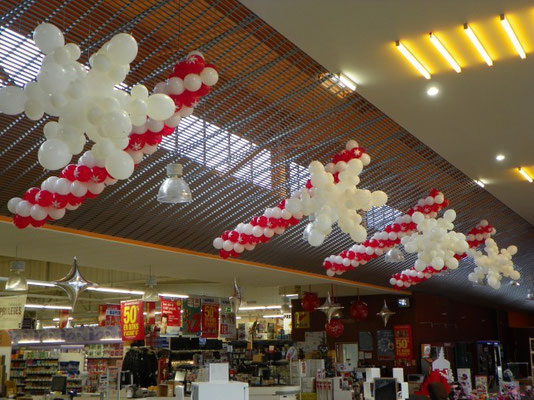 Décoration de ballons flocons de neige