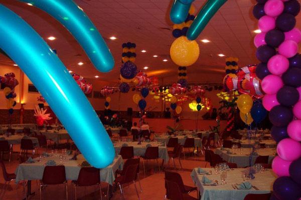 Centre de table ballons avec poissons
