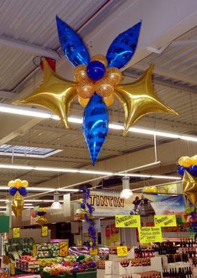 Décoaration de ballons Carrefour Market