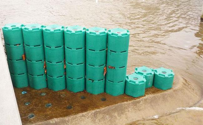 obstacles de rivière artificielle