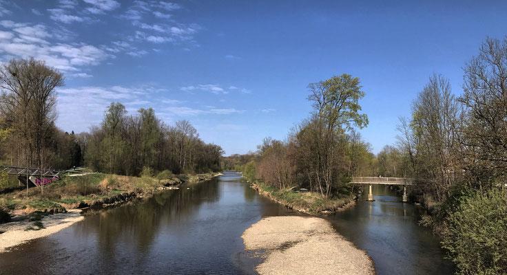 Blick von der Mangfallbrücke