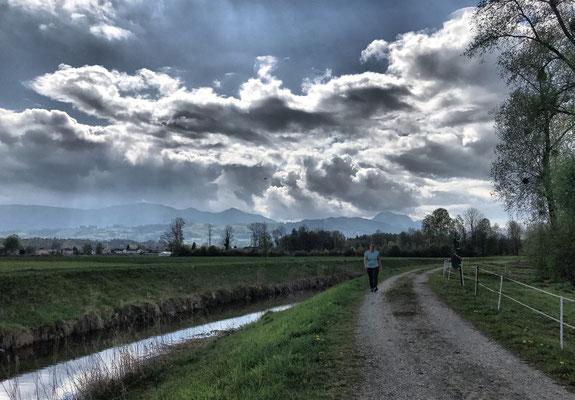 Weg entlang der Rohrdorfer Achen