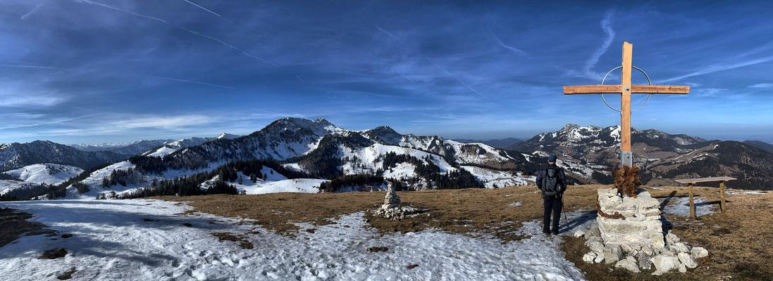 Brünnsteinschanze Gipfelkreuz