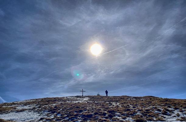 Kurz vor dem Gipfel der Brünnsteinschanze