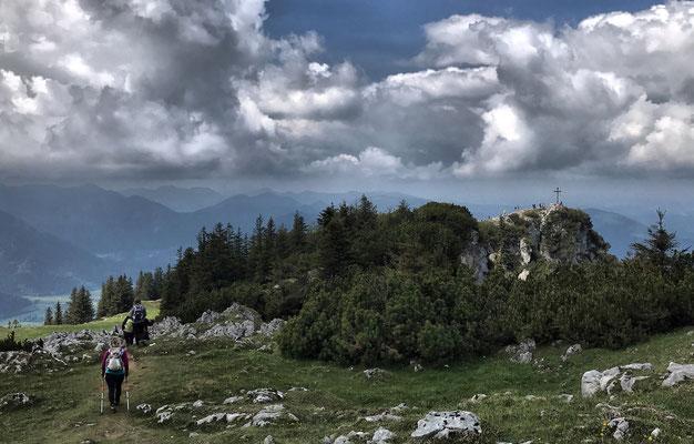 Am Gipfelplateau auf dem Weg zum Bockstein