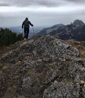 Kurz vor dem Gipfel des Kleinen Traithen