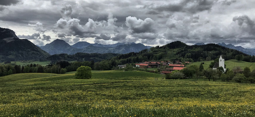 Blick zurück auf Steinkirchen