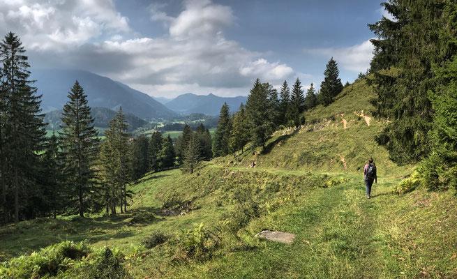 Abstieg nach Osterhofen