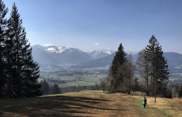 Abstieg nach Elbach