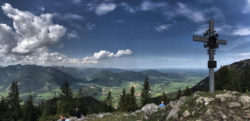 Gipfelpanorama vom Schweinsberg