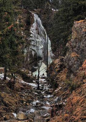 Arzmoos Wasserfall im Winter