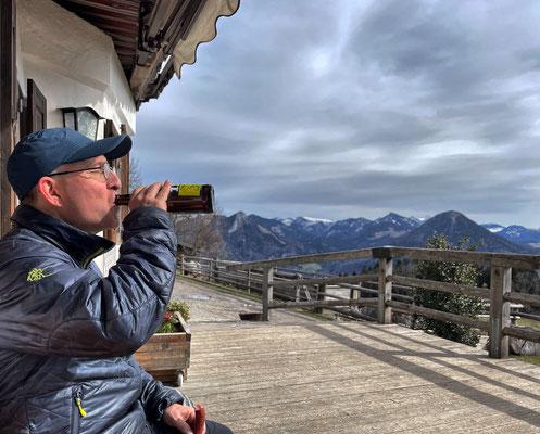 Pause am Berggasthof Hohe Asten