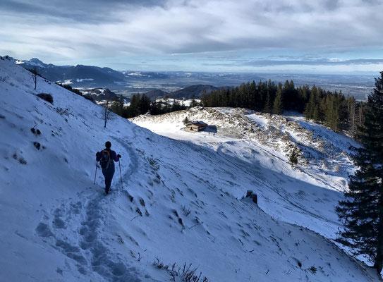 Abstieg zur Ebersberger Alm