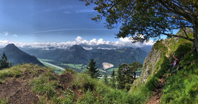 Am Aufstiegsweg kurz vor dem Heuberg-Gipfel