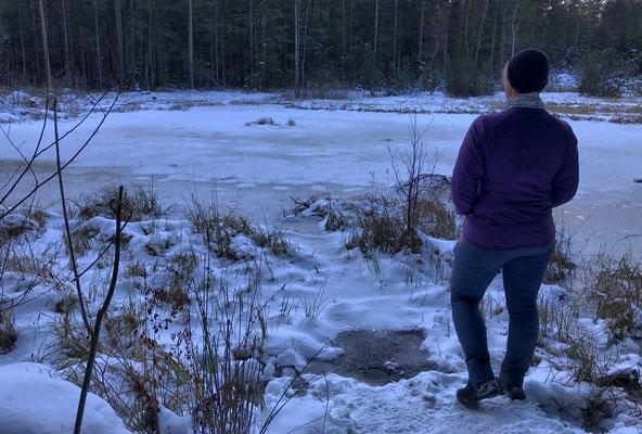 Am zugefrorenen Schwarzsee