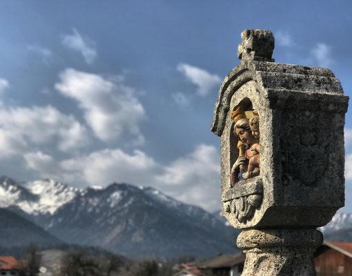 Auf dem Friedhof von Fischbachau