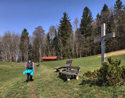 Oberhalb von Dürnbach geht es Richtung Norden